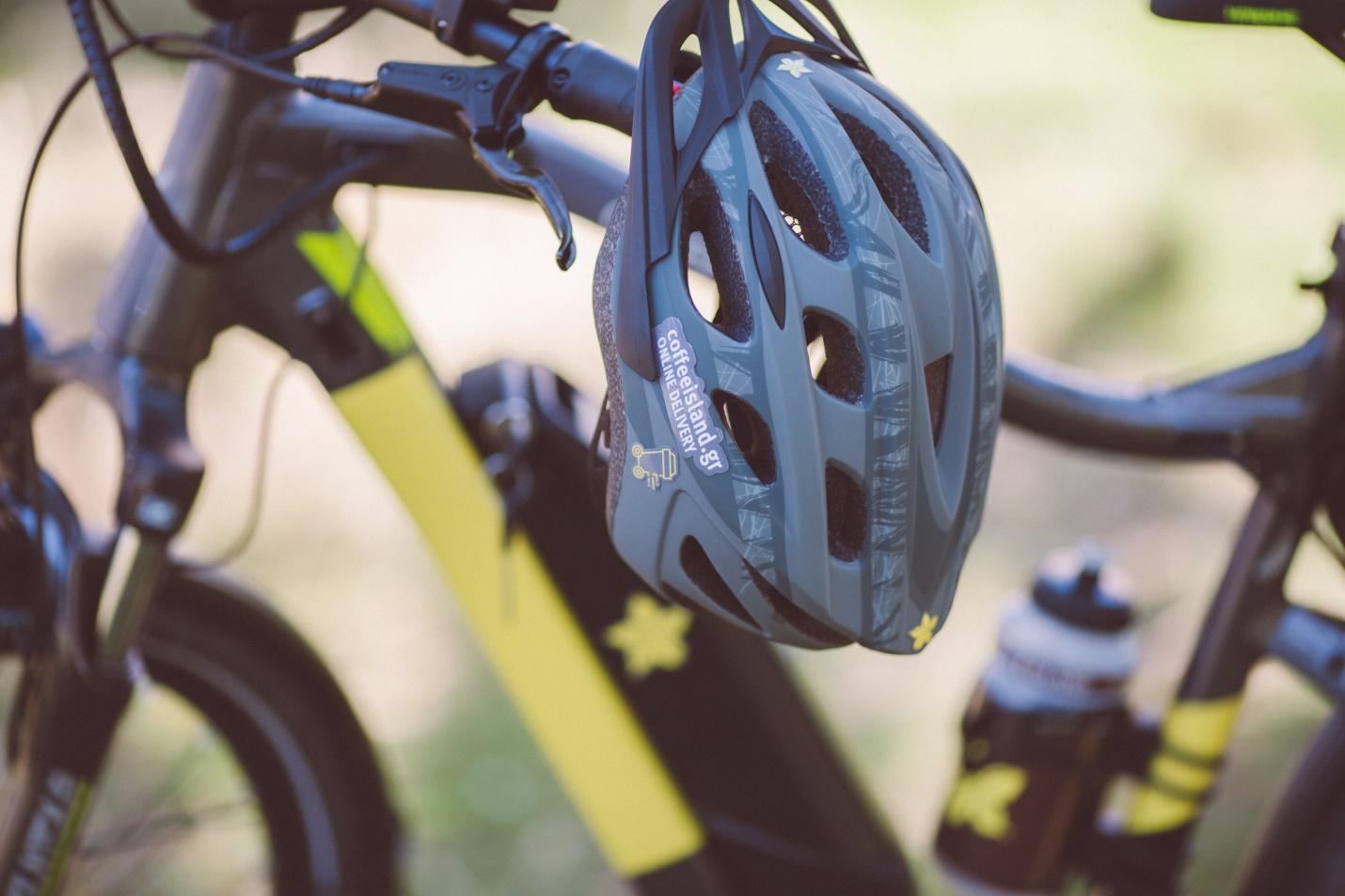 ποδήλατο μέσο μεταφοράς του καφέ