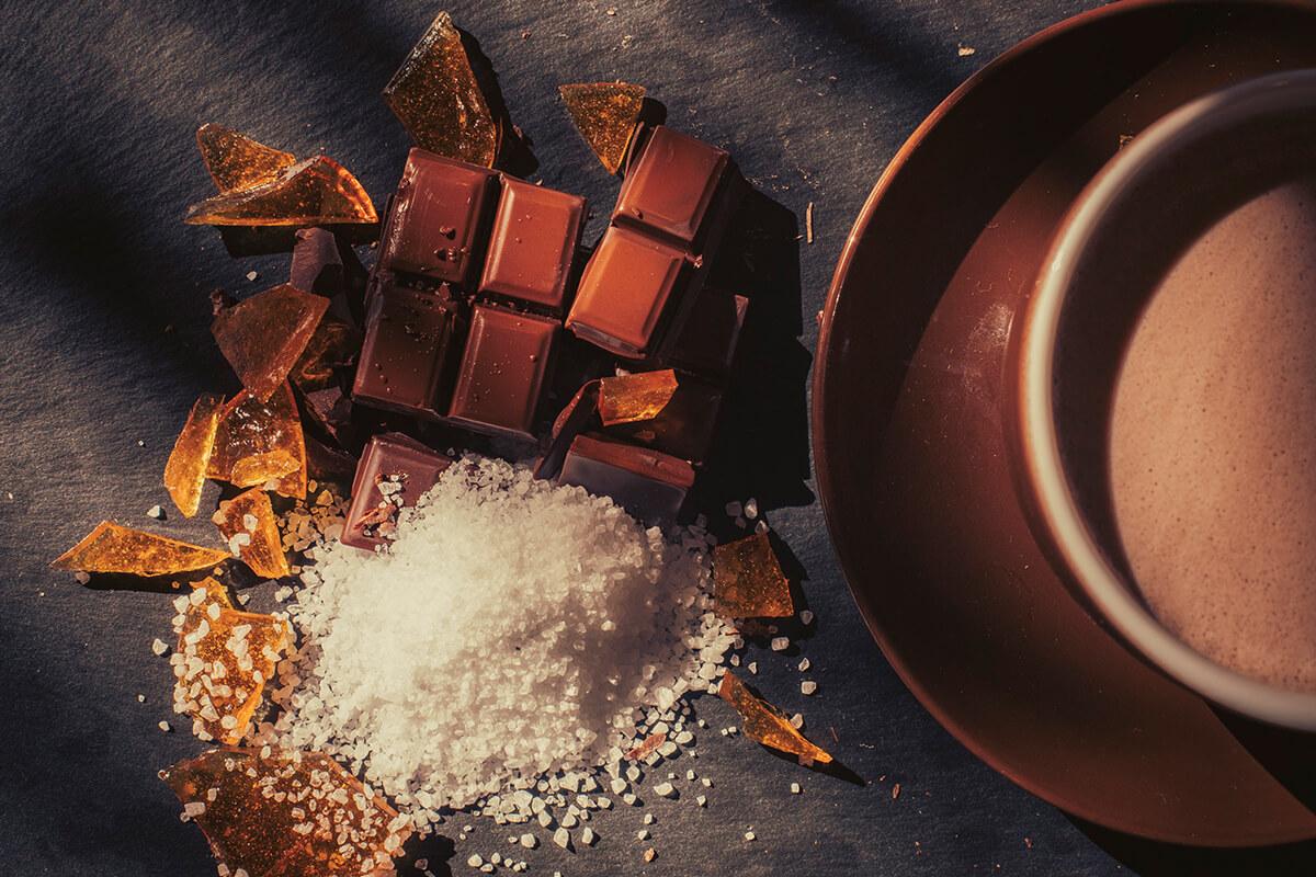 Σοκολάτα καραμέλα με θαλασσινό αλάτι και Σοκολάτα με 0% ζάχαρη