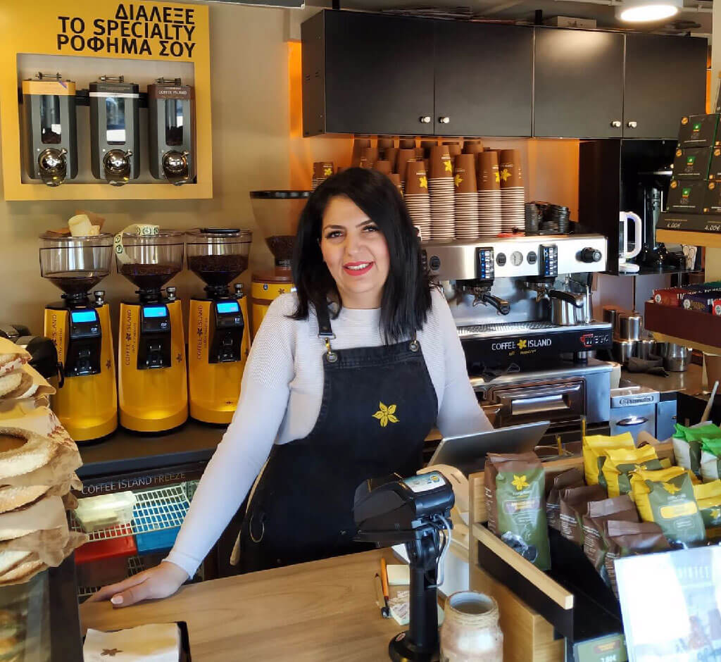 barrista at coffee shop