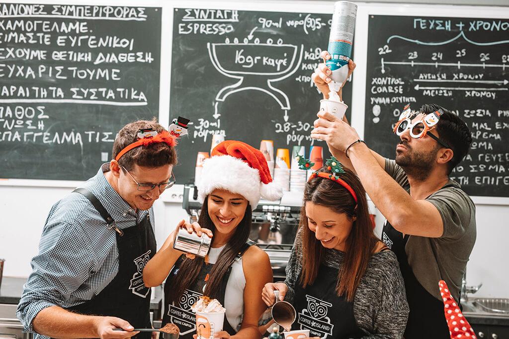 Christmas spirit at Coffee Island's coffee campus