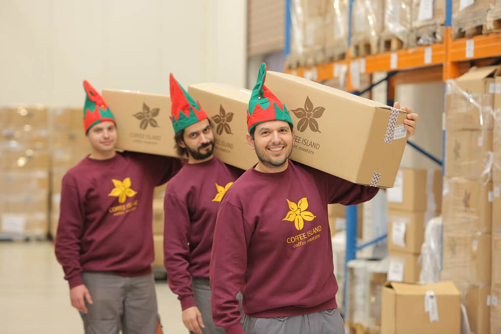 Christmas spirit at Coffee Island's production department