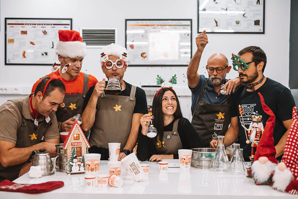 Christmas spirit at Coffee Island's R&D department