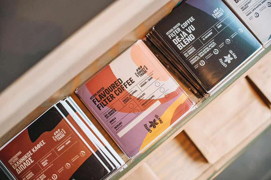 A coffee label for coffee packaging