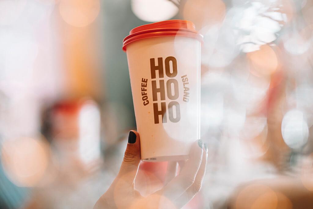 Coffee Island's Christmas HOHOHO cup