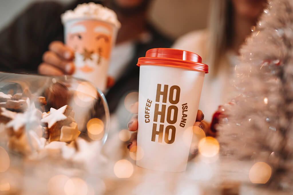 Coffee Island hohoho Christmas cup