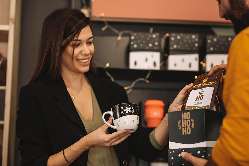 Coffee Island's Christmas gift box