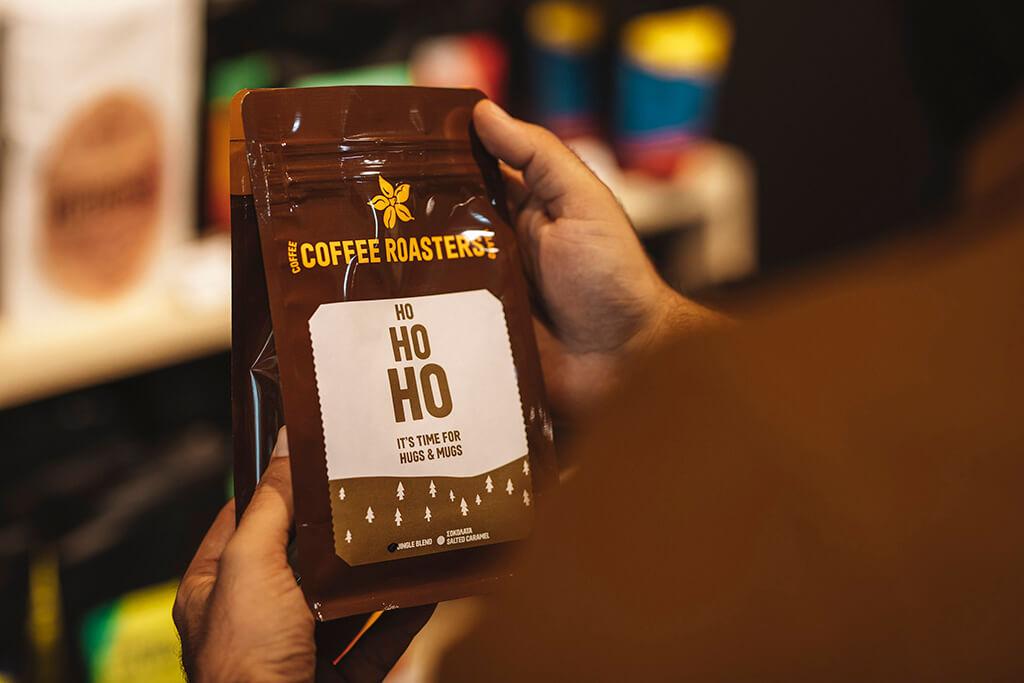 Coffee Island's Jingle Blend packaging