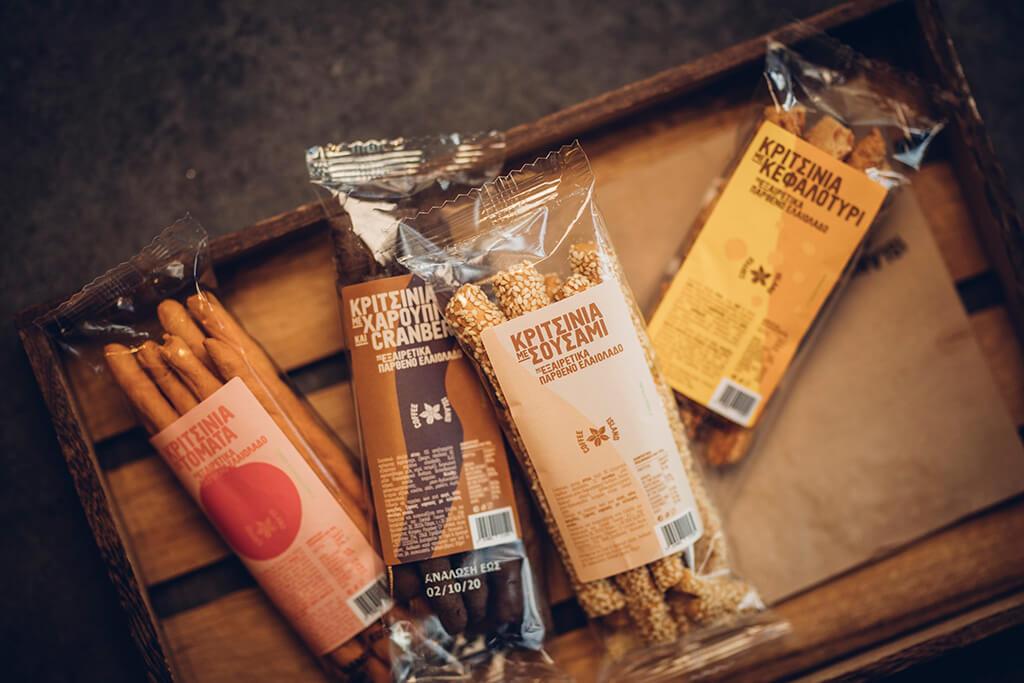 Coffee Island's four new categories of breadsticks.