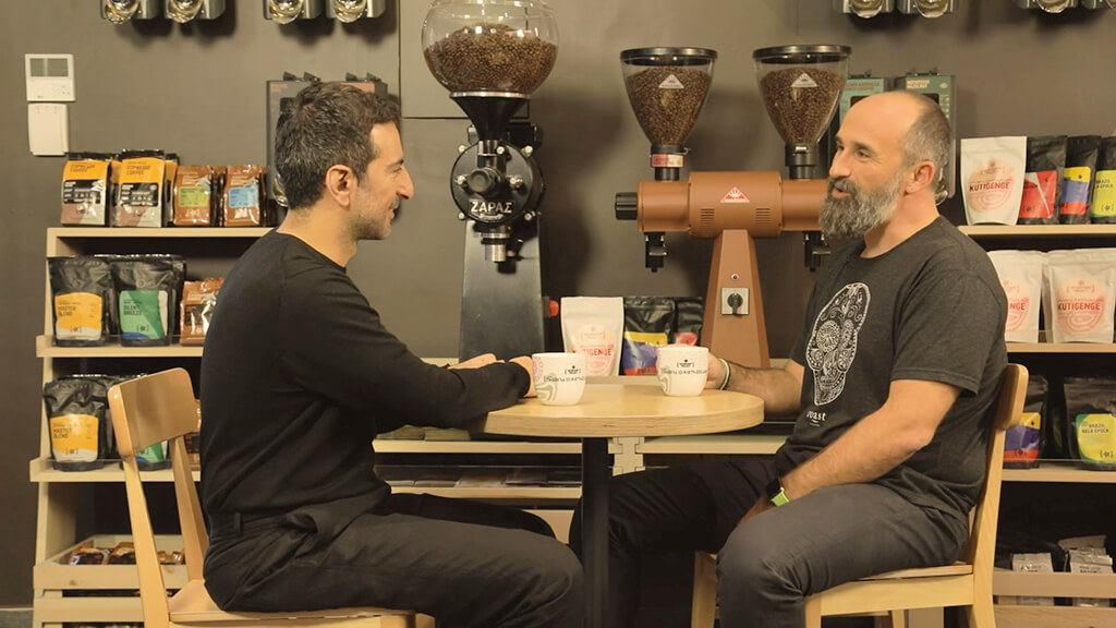 Koudounaris and Konstantinopoulos discussing at Microfarm Series, episode 2