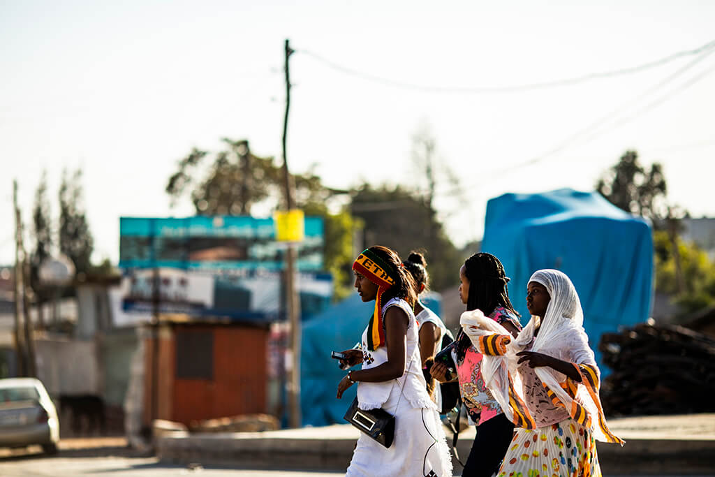 Coffee Island International Women's Day, Ethiopian women.