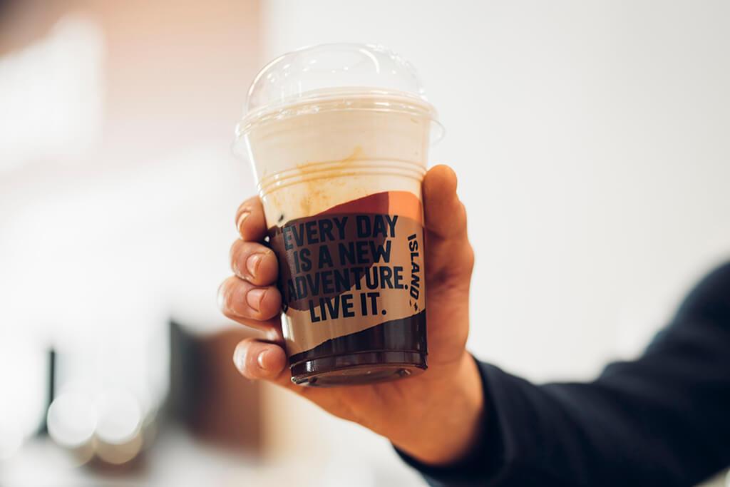 Coffee Island's Freddy cappuccino.