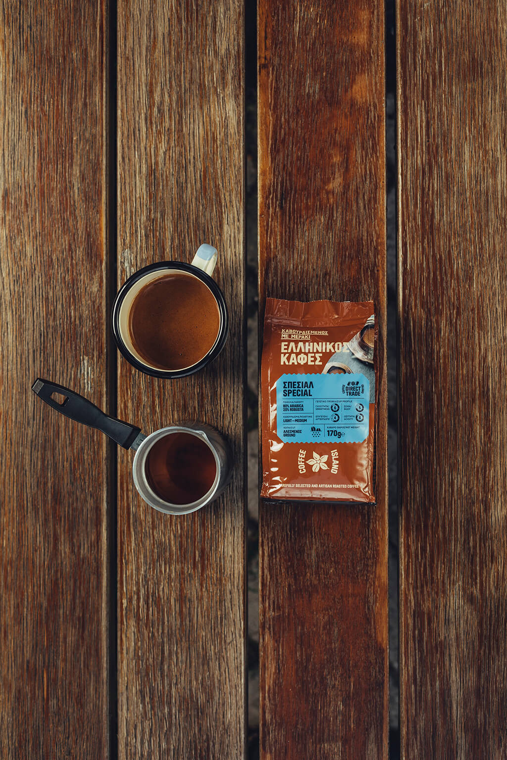 Coffee Island's special ibrik coffee.