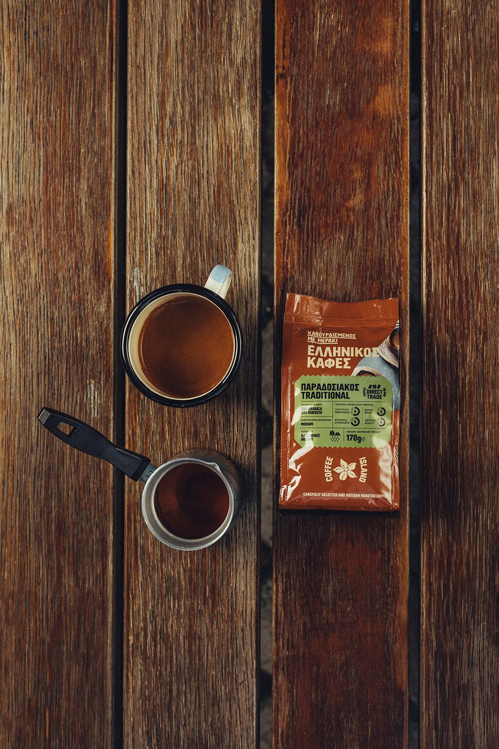 Coffee Island's traditional ibrik coffee