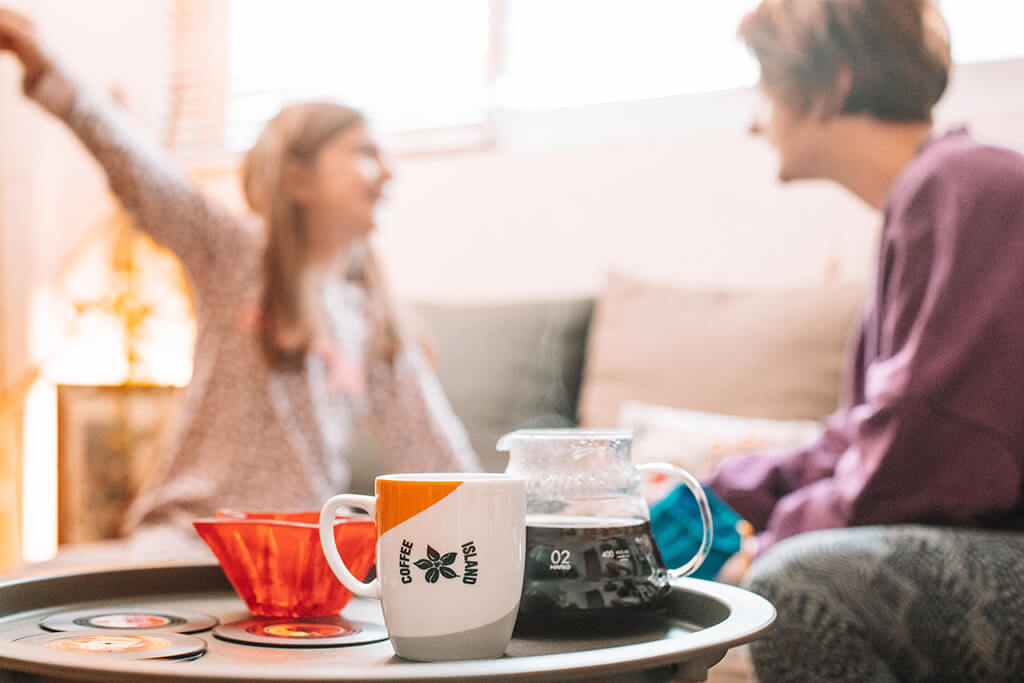 Family moments with Coffee Island's filter coffee