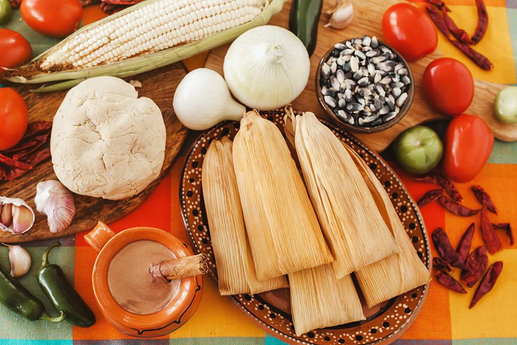 Mexican food preparation.
