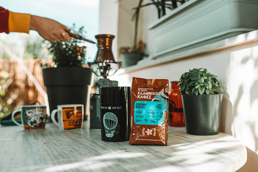 Preparing Coffee Island's ibrik coffee