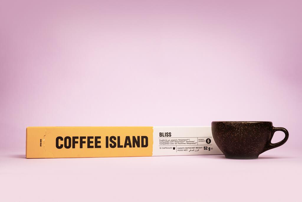 Coffee Island's bliss capsule.