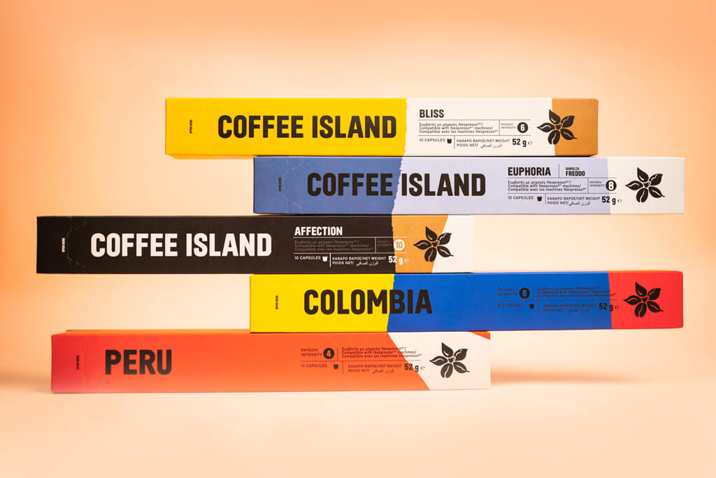NEW ALUMINUM CAPSULES COFFEE ISLAND: TASTE THAT IMMEDIATELY AWAKENS YOUR SENSES