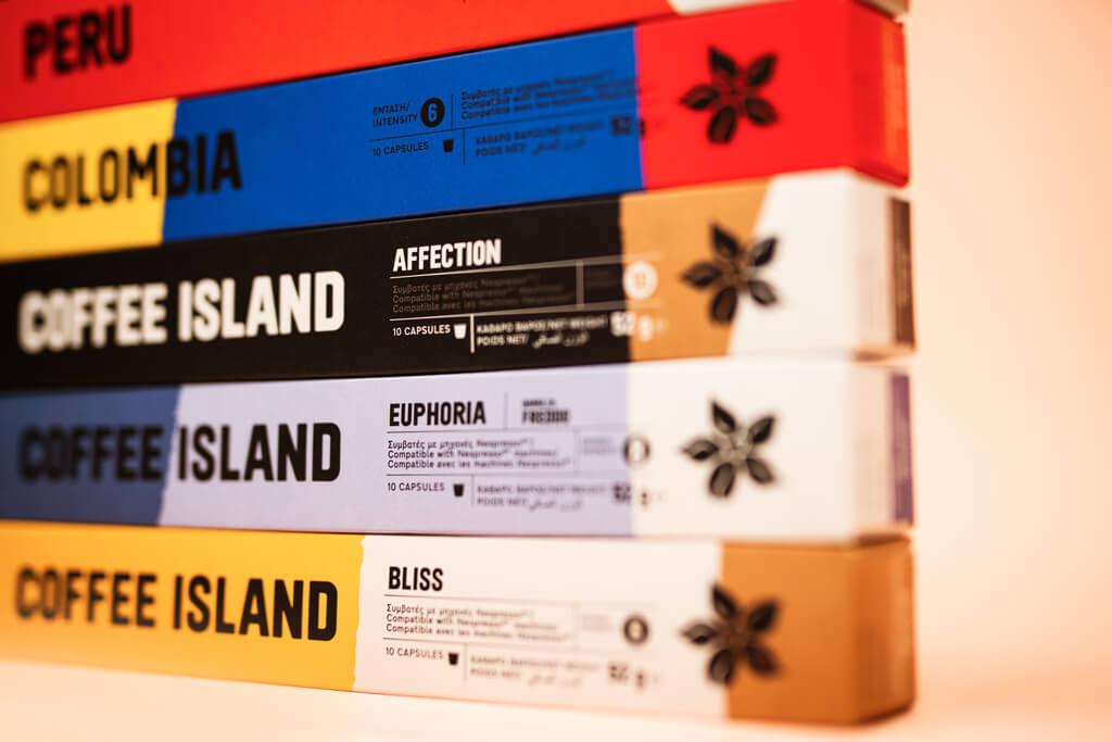 Coffee Island's new capsules.