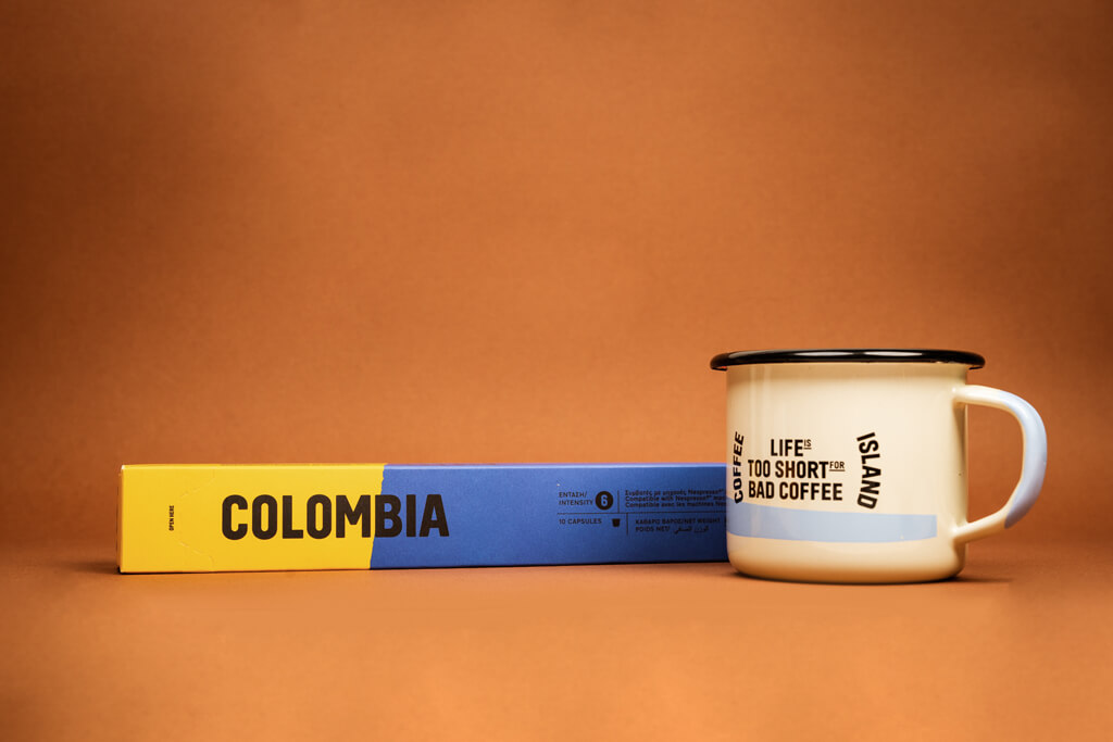 Coffee Island's colombia capsule.