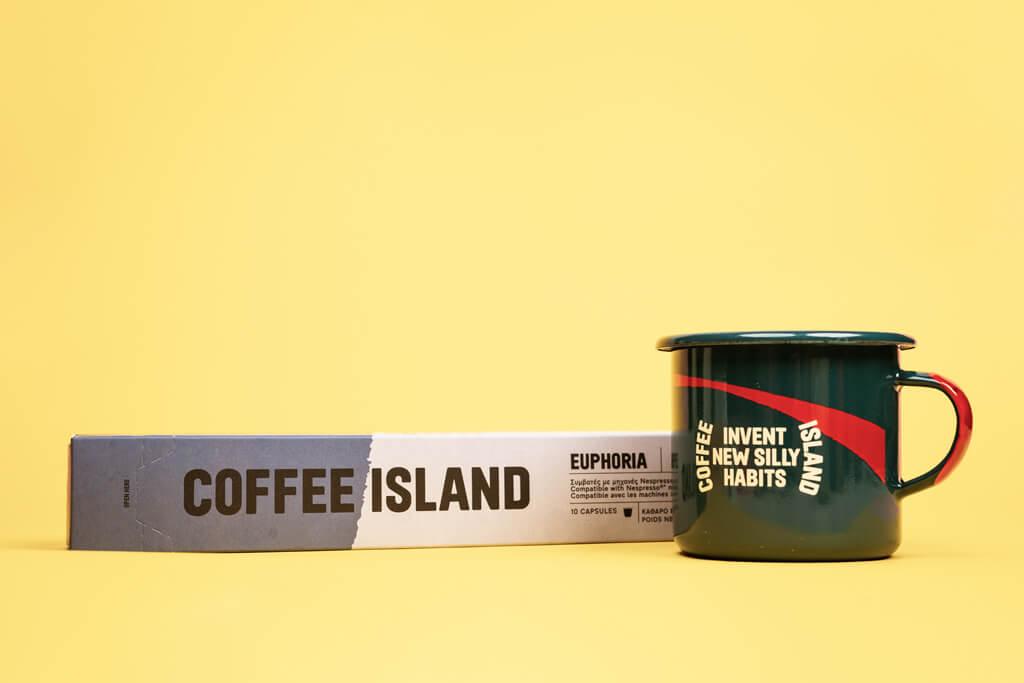 Coffee Island's euphoria capsule.