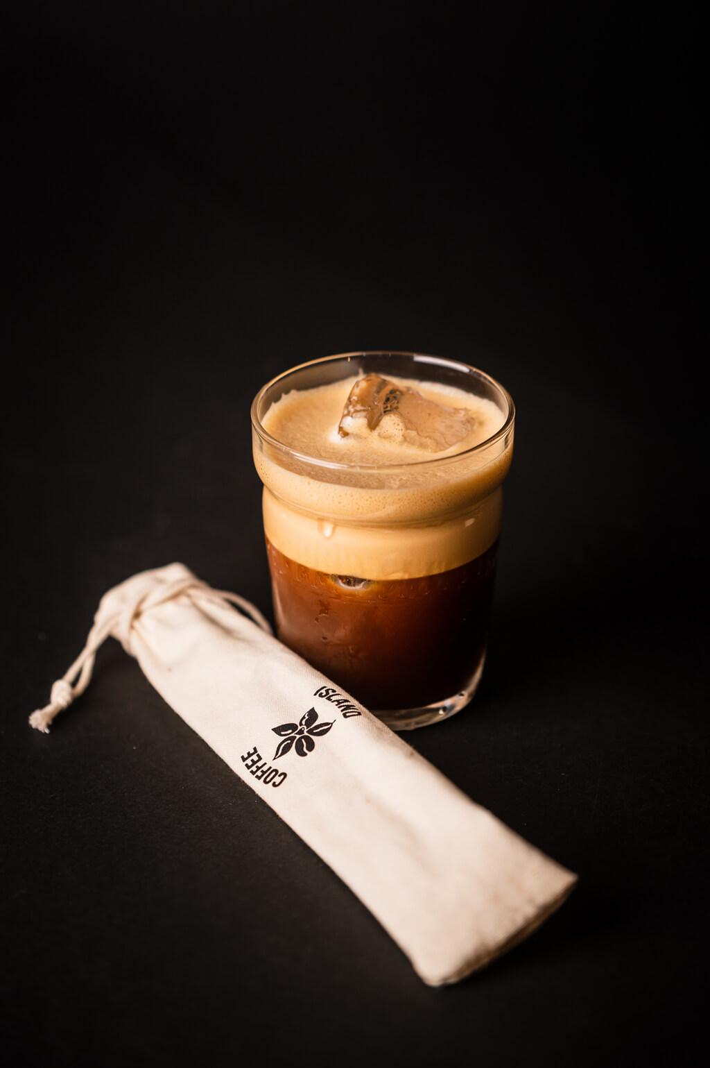 Coffee Island's delicious freddo espresso.