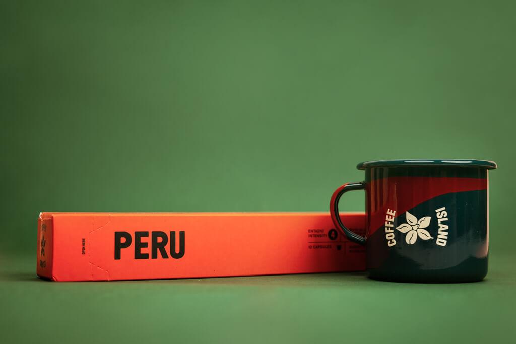Coffee Island's peru capsule.