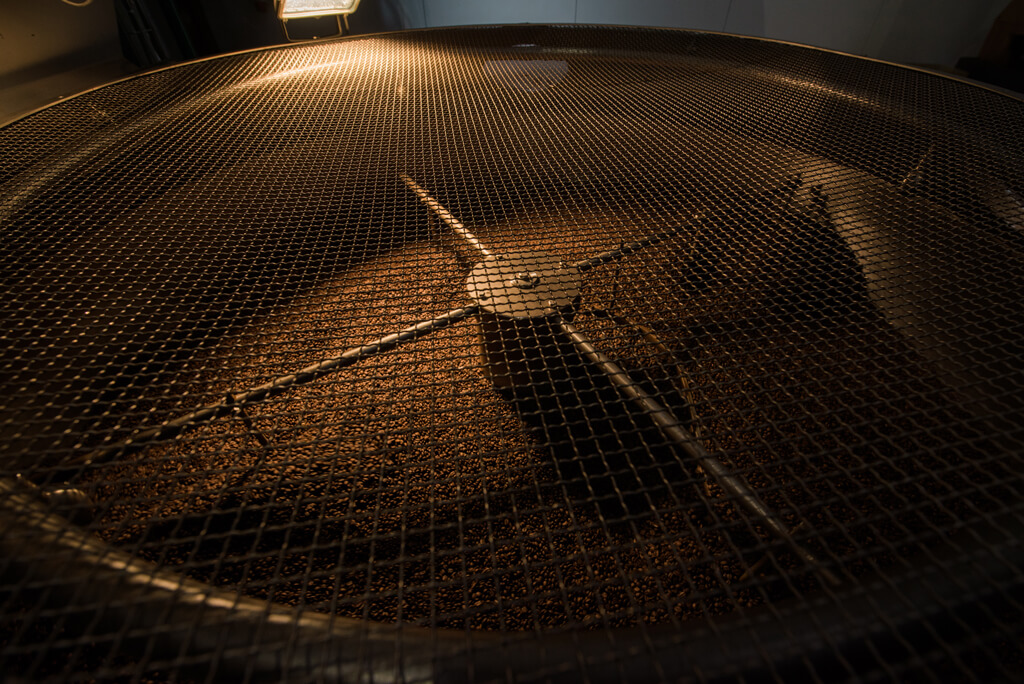 Coffee Island's artisan roasting.