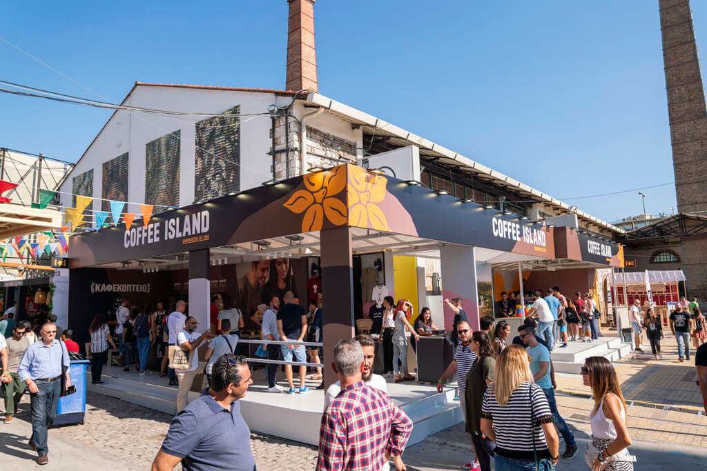 Coffee Island at Athens Coffee Festival in 2019.