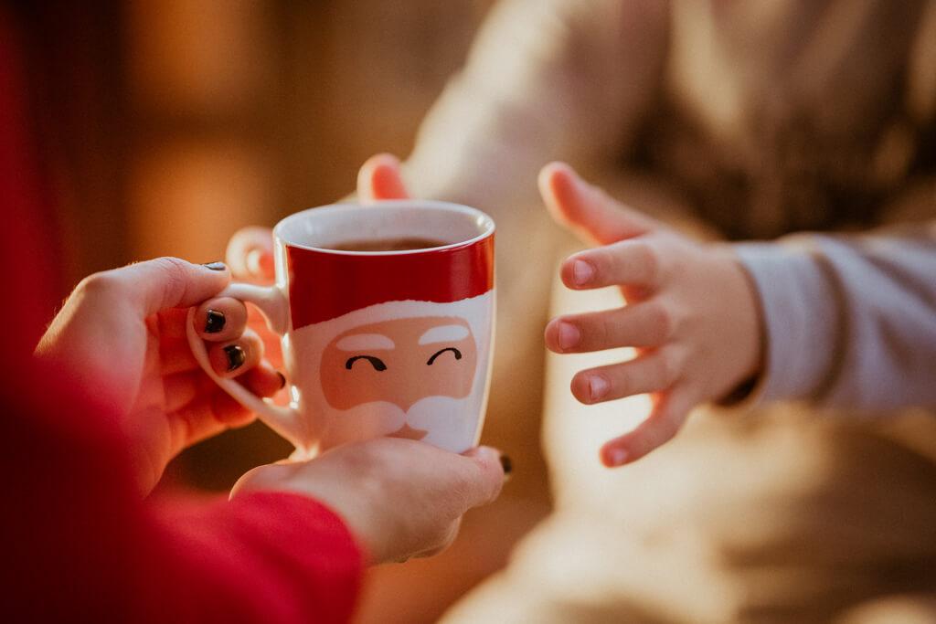 Coffee Island's Santa Claus mug.