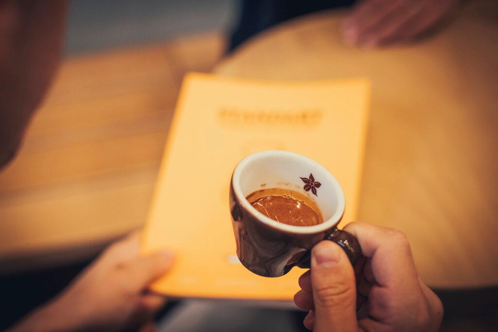 Coffee Island's espresso coffee.