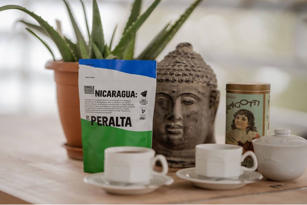 Coffee Cups filled with Nicaragua Coffee