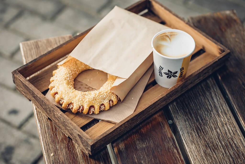 coffee island breakfast to go